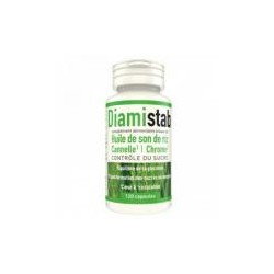 DIAMISTAB - Huile de Son de Riz - Cannelle - Chrome - 120 capsules
