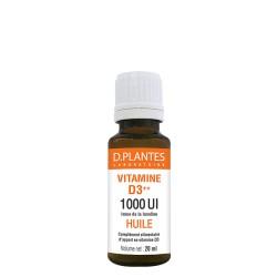 Vitamine D3++, 1000 UI,issue de la lanoline